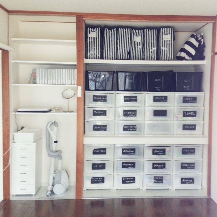 Kaori39さんの、Kaori39家の押し入れ,押し入れ,無印良品のアルバム,ダイソー,IKEA,シンプルにしたい,モノトーンに憧れて,棚,のお部屋写真