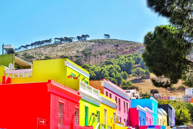 The beautiful colors of Bo-kaap. Colorful houses in the beautiful mother city, Cape Town