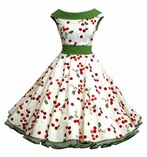 petticoatkleid kirschen