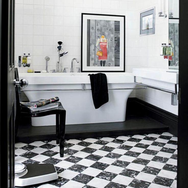 bold black and white bathroom httprilanecombathroom