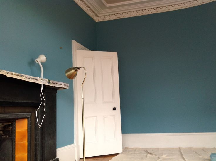 Third coat - Final - Walls - Farrow and Ball - Stone Blue - Woodwork - Farrow and Ball - Strong White