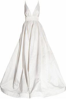 deep V ball gown. super cute.