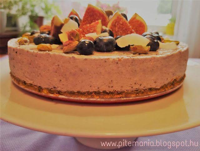 Pitemánia: Fügés-áfonyás mindenmentes, nyers vegán torta