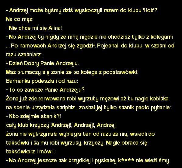 Wikary.pl - Andrzej, może wyskoczymy do klubu?