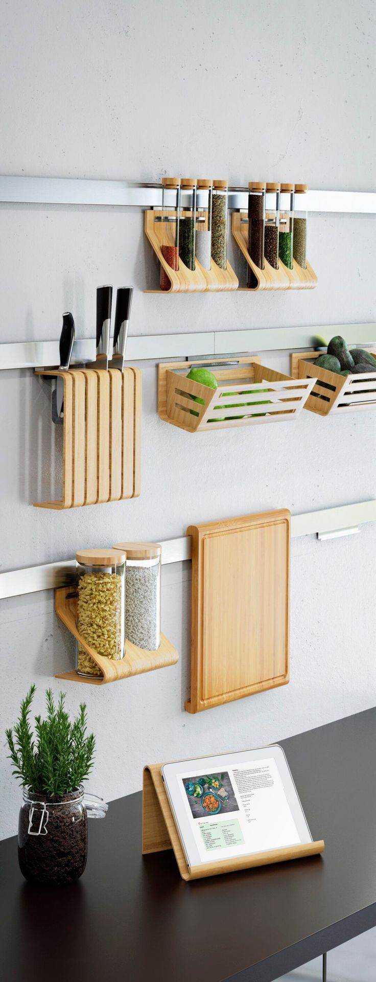 Wall Ledges for Wooden Kitchen Accessories