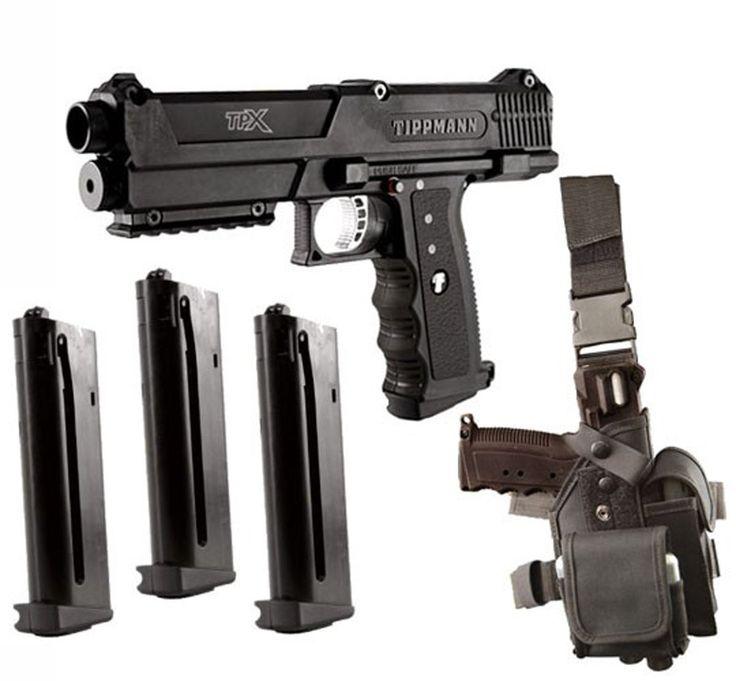 Amazon.com : Tippmann TPX Paintball Pistol Starter Kit - Black : Paintball Guns : Sports & Outdoors