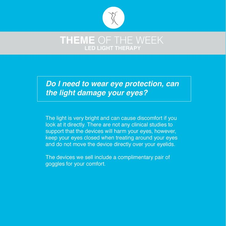 Question: Do I need to wear eye protection, can the light damage your eyes? #dermacaredirect #LED #FAQ