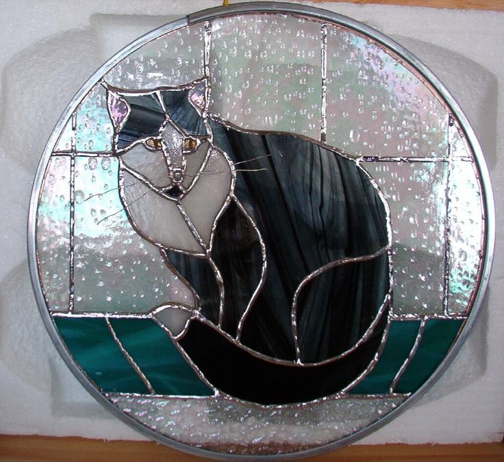 """My cat """"Keys"""" in glass"""