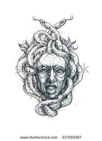 Illustration of the Medusa Gorgon