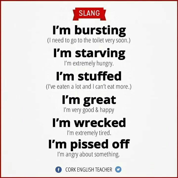 English slang - Learn and improve your English language with our FREE Classes. Call Karen Luceti 410-443-1163 or email mailto:kluceti@chesapeake.edu to register for classes. Eastern Shore of Maryland. Chesapeake College Adult Education Program. www.chesapeake.edu/esl.                                                                                                                                                      More