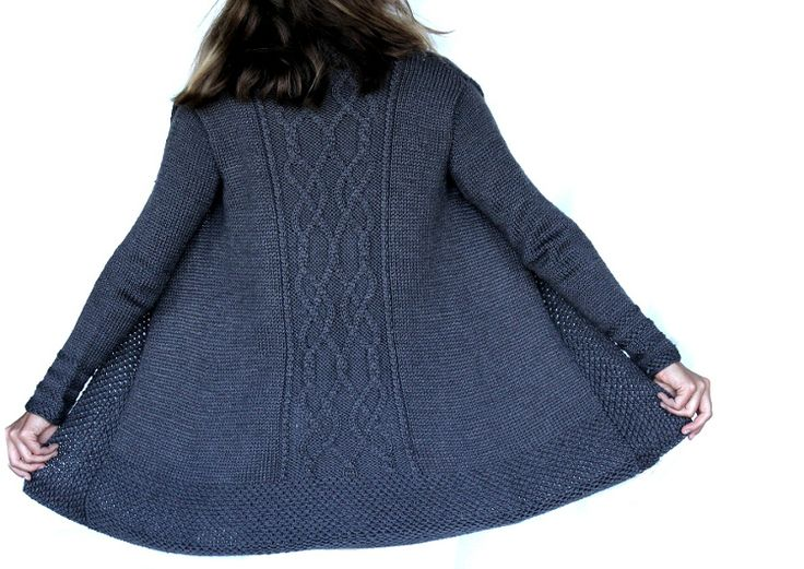 Reindeer Cable Cardigan Pattern by the Gift of Knitting