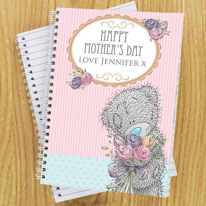 Me To You Flowers A5 Notebook - Price: £7.50  Personalise this Me To You notebook featuring Tatty Teddy holding a Bouquet of Flowers, with a message of three lines up to 15 characters long per line.  https://www.facebook.com/perfectlittlegift/photos/a.974090042619495.1073741901.887213147973852/985356771492822/?type=3&theater