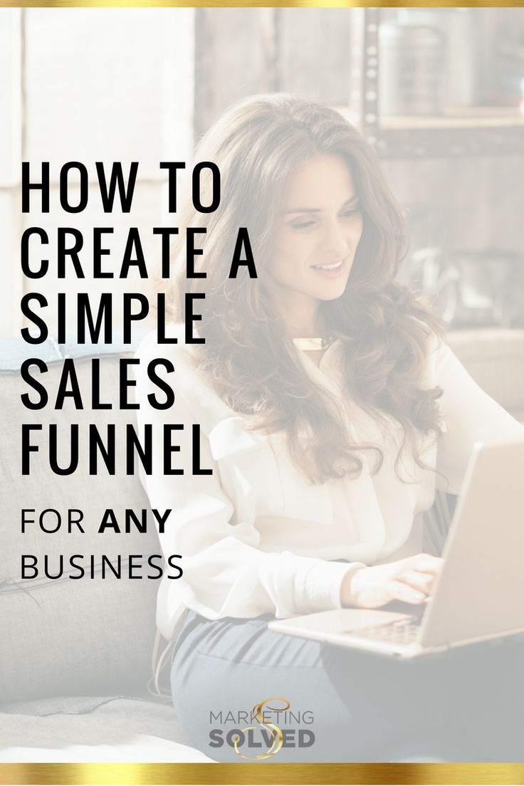 How to create a simple sales funnel for ANY business - Marketing Solved