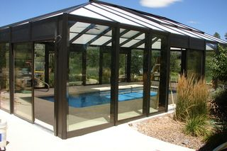 Pool enclosure - i would love this.  use the pool year round.
