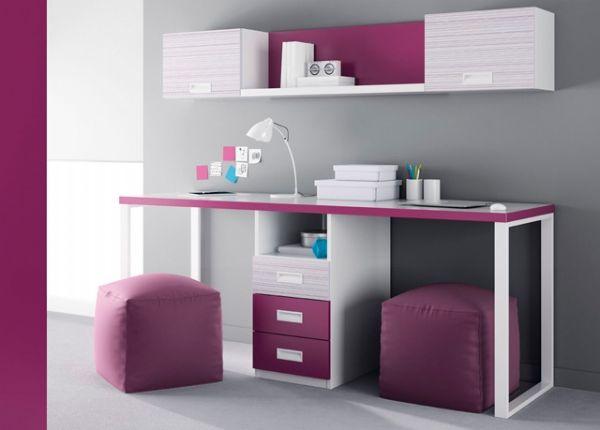Mesa de estudio con cajones enmedio www.xikara.net