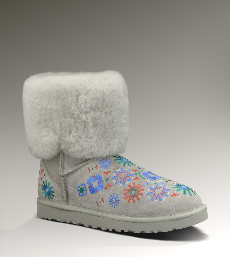 UGG® Embroidery Mid for Women | Mid Boots at UGGAustralia.com