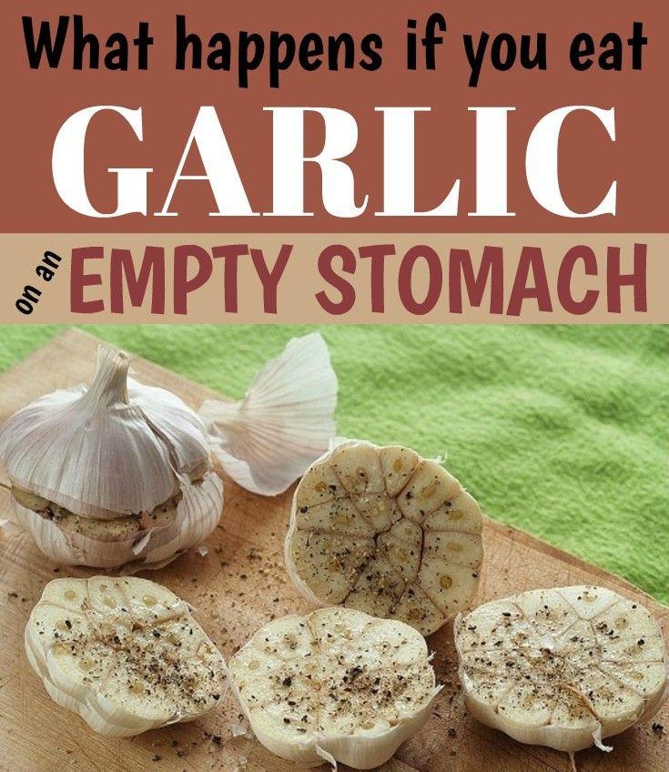 how to eat raw garlic empty stomach