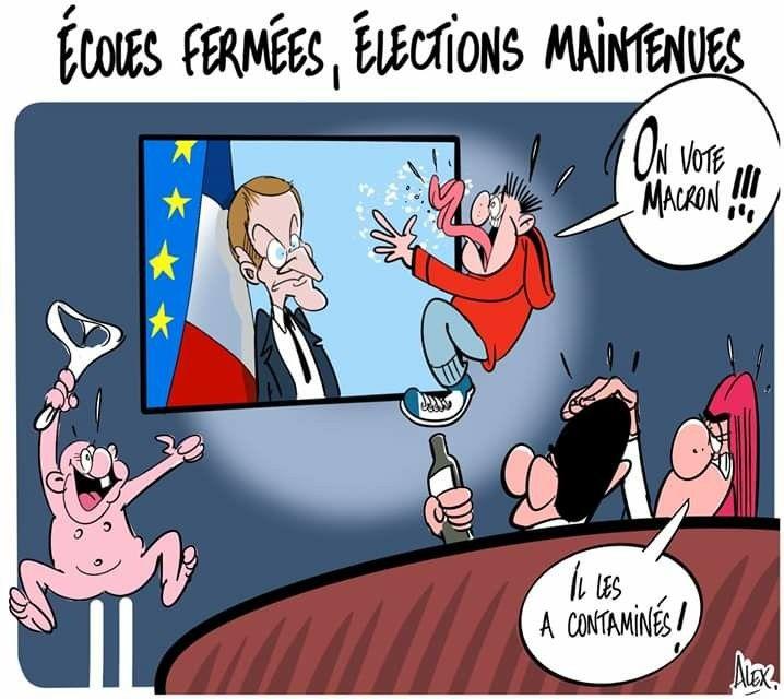 Akex (2020-03-13) France : Emmanuel Macron, élections municipales ...