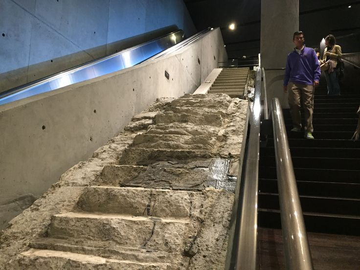"""The Vesey Street Stairs"" relocated to the 911 Memorial Museum."