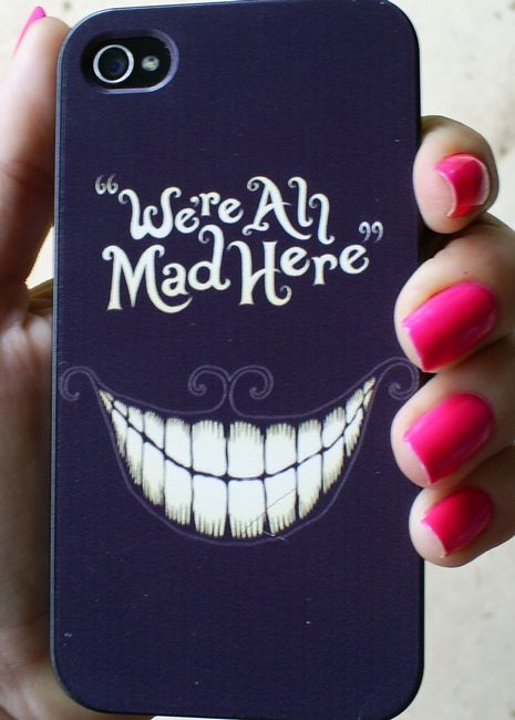 ($10) Alice In Wonderland - Hard plastic phone case for the iPhone 4, iPhone 4s, iPhone 5, iPhone 5s - Cute and perfect for girls