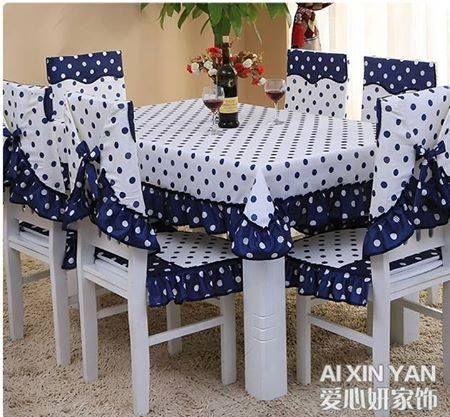 forros de sillas y mantel