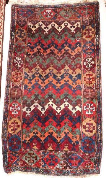 Anatolian Kagizman circa 1875 exhibited by John Goodall. Rugs and carpets on display at Sartirana Textile Show