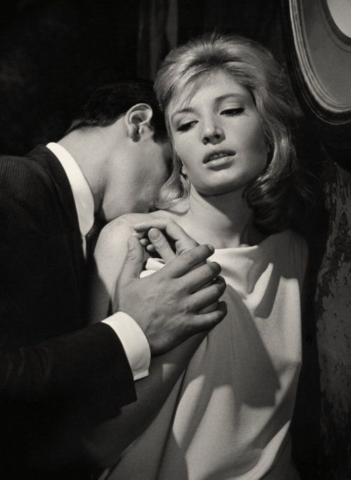 "1962 Alain Delon & Monica Vitti in ""L'Eclisse"" | Directed by Michelangelo Antonioni -"
