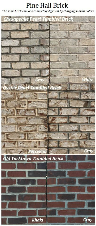 1000 images about mortar trim makes a difference on for Brick selection for houses