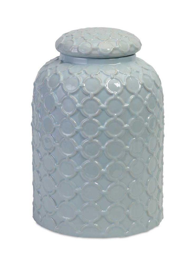 $90.90 IMAX Robin's Egg Blue Lidded Jar