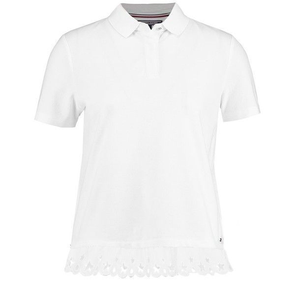 Tommy Hilfiger ABNER Polo shirt ❤ liked on Polyvore featuring tops, white polo shirt, polo shirts and white top