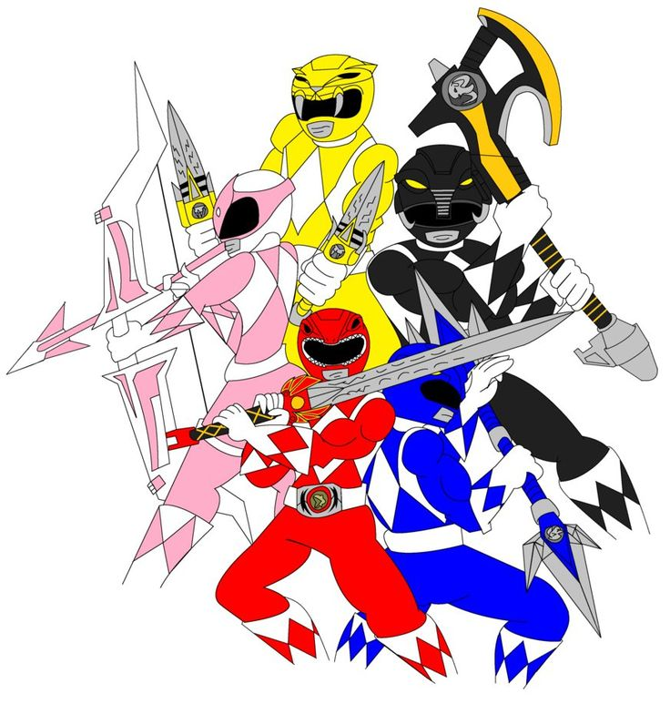 Go Go Power Rangers MMPR by The1stMoyatia