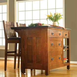 Superb Mission Furniture Stickley Kitchen Island With Drawers
