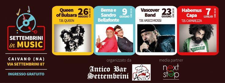 Settembrini in Music è un evento socio-culturale e musicale da non perdere. Si terrà da maggio a luglio a Caivano (NA). Nell'articolo i dettagli. #news #eventi #livemusic #Napoli