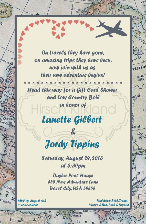 Travel Theme Invitation by InvitesBySandi on Etsy, $15.00