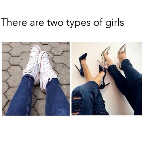 I'm seriously one or the other! If I'm not wearing converse, I'm wearing heels ;)