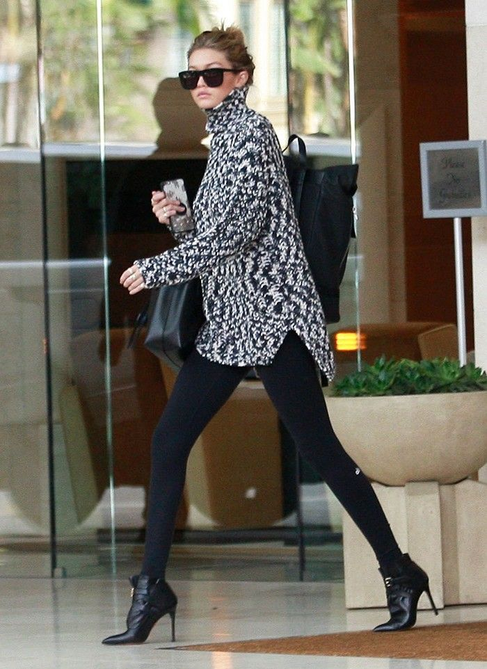The Celebrity Outfits That Make Leggings Look High-End via @WhoWhatWear