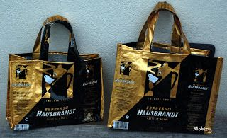 ATTENTI AI GATTI: borsa con buste caffè