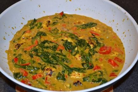 Kasvi-korma  Korma on intialainen ruoka, jossa täyteläisen mausteisessa kastikkeessa on kasviksia tai lihaa. Intialaisten enemmistö syö pääasiassa kasviksia, liha on kallista ja uskonnot rajoittavat lihan syömistä, intialainen keittiö on kasvissyöjille runsauden sarvi. Linssit ja muut palkokas