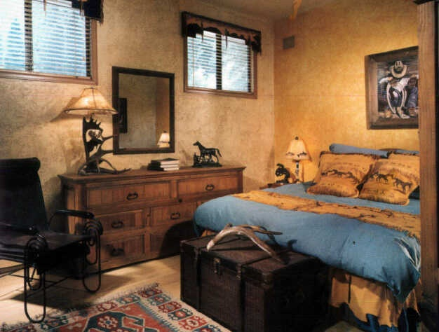 Bedroom decorating idea love the western decor for Western bedroom ideas