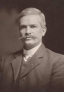 No5: Andrew Fisher. Born in Scotland. Worked coal mines at 10, moved to Queensland at 13. Decided the site for the national capital, laid its foundation stone and gave it the Aboriginal name of 'Canberra' (meeting place). In October 1914, Fisher pledged, ' .. we will stand by the Mother Country to help and defend her to the last man and the last shilling.' In 1916 he opposed conscription and so saved the last man. Heck of a moustache.