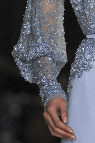 Royal Blue Lady Sleeves @ElieSaabWorld Elie Saab Spring Summer Couture 2013 #HauteCouture #Detail #Fashion More