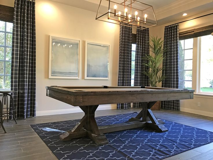 Restoration Hardware Inspired Pool Table-Rustic-8' Thomas Pool Table-Slate Pool Table-Rustic Furniture-Game Room Furniture-Harvest Table by sawyertwain on Etsy