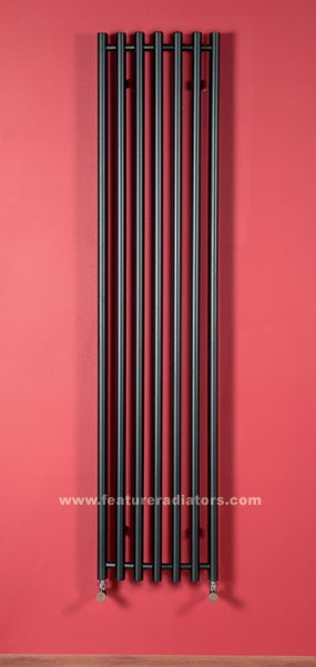 Nero radiator in matt black