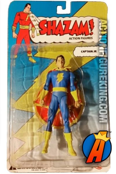6-inch scale Captain Marvel Jr. action figure from the Shazam! series by DC Direct. Visit ActionFigureKing.com for a huge database of new and vintage collectibles. #captainmarveljr #shazam #captainmarveljunior #dcdirect