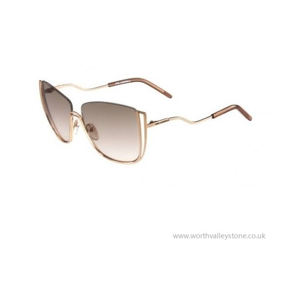 KARL LAGERFELD KL242S Sunglasses 5914mm (531) SHINY ROSE GOLD 531 ❤ liked on Polyvore featuring jewelry, pink gold jewelry, red gold jewelry, rose gold jewellery, rose gold jewelry and polish jewelry