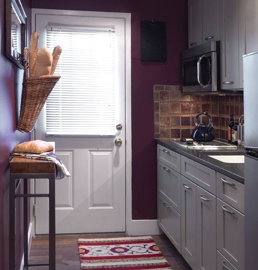 #purple #kitchen #decor ideas  This is a nice idea and something we could actually do... We have already made a start with a purple toaster, kettle...bits and bobs!