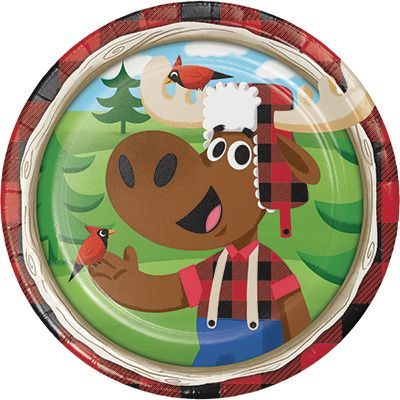 Canadian Lumberjack Dessert Plates - 8pk Party Supplies Canada - Open A Party