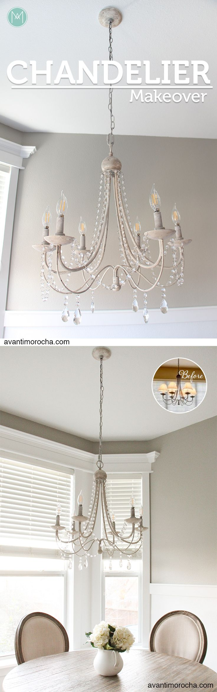 DIY Chandelier Makeover  | Araña de luces | Crystal