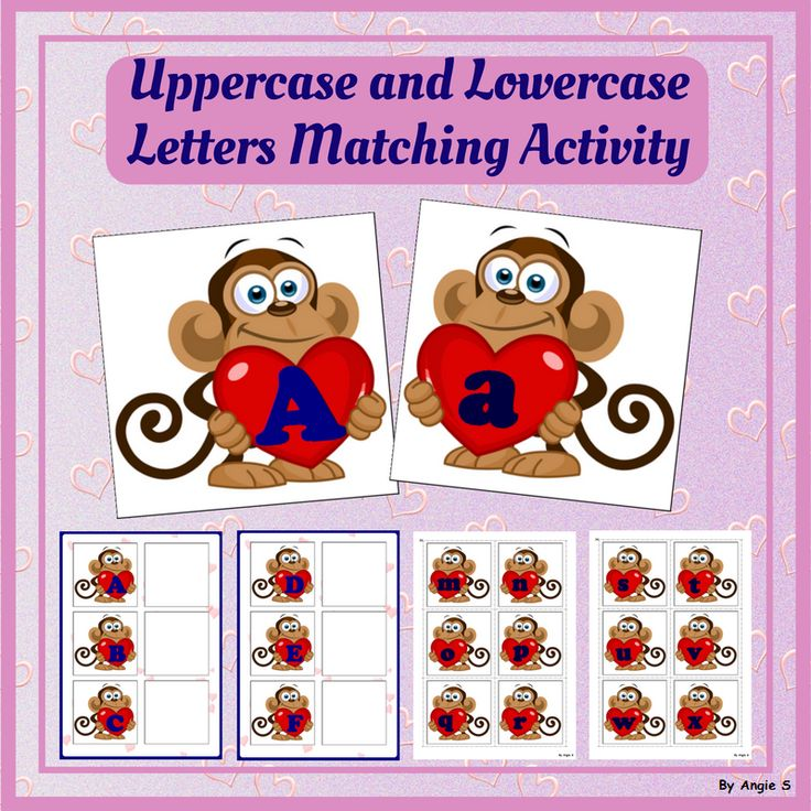 Uppercase and Lowercase Letter Matching Activity for Kindergarten, preschool and special education. #february #valentinesday #hearts #phonics #alphabet #sped #speechtherapy #teacherspayteachers #tpt For more resources follow https://www.pinterest.com/angelajuvic/autism-and-special-education-resources-angie-s-tpt/