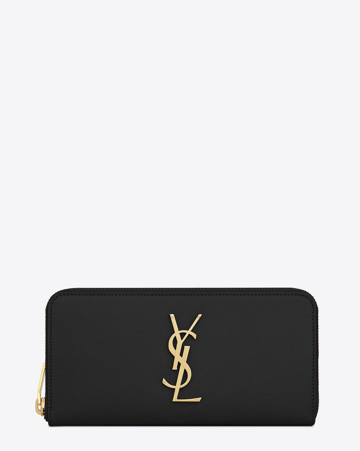 Saint Laurent Monogram: discover the selection and shop online on YSL.com.  Zip Around WalletSaint ...